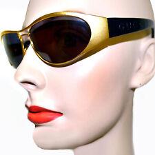 GUCCI Mens Womens Vintage 90's Black Gold Rectangle Sunglasses GG 2381 032 62016