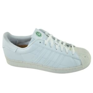 New Adidas Superstar FW2292 White With Cream Toe Cork Insoles Mens 10.5 Nice