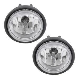 Pair Set Fog Lights Halogen Lamps Lenses Housing for 01-10 Freightliner Columbia