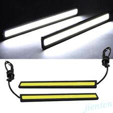 2Pcs Waterproof LED COB Car DRL Driving Daytime Running Lamp Fog Lights 12V
