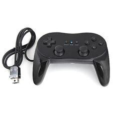 Controller Pro Gamepad Classic Controller Pro Joypad für Nintendo Wii Schwarz