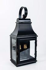 "Vintage Black ""Warrington"" Flush Fitting Garden Porch Wall Lantern"