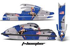 Jet Ski Graphics Kit Decal Pwc Wrap For Kawasaki Js 750 Sx 1992-1998 Tbomber Blu