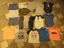 NEW LOT/18 CARTER'S BABY BOY CLOTHING SHORTS SHIRTS ROMPERS+ 6M  FREE SHIP