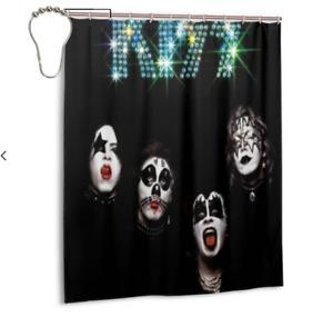 Home Decor New Bathroom Waterproof Fabric Kiss Band Shower Curtain 60 x 72 Inch