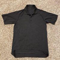 Lululemon Men's S Short Sleeve Polo Shirt Dark Grey