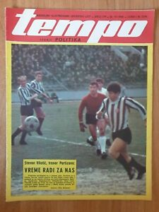 sport magazine TEMPO #179 football Vladica Kovacevic FC Partizan Belgrade 1969
