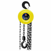 Neiko 3 Ton Chain Hoist 2 Hooks | Manual Chain Block 10 Foot Lift