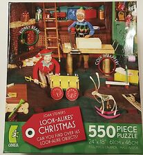 550PC CHRISTMAS LOOK A LIKES JOAN STEINER JIG SAW PUZZLE 550 PIECE USA MADE 1