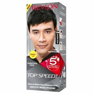 Revlon Top Speed Hair Color, Natural Black 70M, 100 g