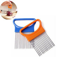 Stainless Steel Onion Fork Fruit Vegetable Cutter Slicer Safe Aid Holder Kitchen