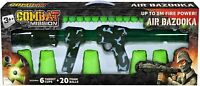 Kids Army Combat Mission Air Bazooka Foam Ball Launcher Target Cups Indoor Toy