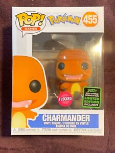 Funko Pop! Charmander #455Flocked Pokemon ECCC Shared Exclusive