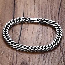 Stainless Steel Men Bracelet Wristband Armband Chain Cuban Curb Hip Hop Jewlery