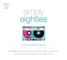 SIMPLY EIGHTIES A-HA, Chaka Khan, New Order  4 CD NEUF