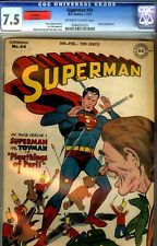 SUPERMAN # 44- CGC 7.5- HIGH GRADE DC- TOYMAN APPEARANCE-1947 BEAUTY
