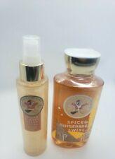 bath and body works spiced gingerbread swirl shower gel and diamond mist