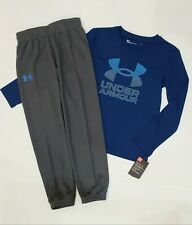 NIKE UNDER ARMOUR size 7 Shirt & Pants 2 Piece Set Long Sleeve NWT