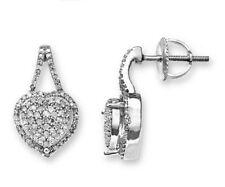 Stud Sterling Silver I1 Fine Diamond Earrings