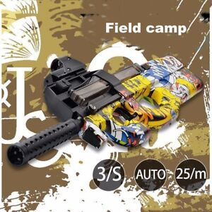 P90 Electric Paintball Sniper Shoot Weapon 10000 Free Gel Bullets Pistol Gun Toy