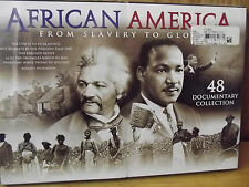 African America From Slavery to Glory Documentary Black History 5 DVD Set New!