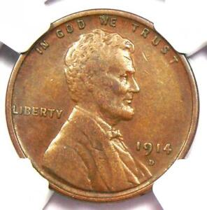 1914-D Lincoln Wheat Cent 1C - Certified NGC XF45 (EF45) - Rare Key Date Penny!