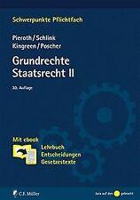 Grundrechte. Staatsrecht II: Mit ebook: Lehrbuch,...   Buch   Zustand akzeptabel