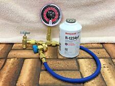 R1234yf Refrigerant, Check & Charge-It Gauge, Hose & Manual On/Off Coupler KIT