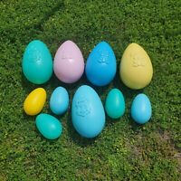 Lot Of 10 Vintage Easter Egg Blow Molds 5 Large 5 Small