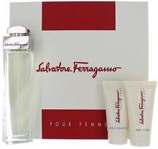 SALVATORE FERRAGAMO | 3pc Gift Set 3.4oz Perfume + 1.7oz Body Lotion + Gel new