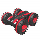 Waterproof Remote Control Car Boat 4WD 6CH 2.4G All Terrain RC Vehicle 1/16 Red