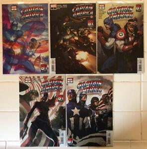 United States Of Captain America #1 2 3 4 5 Complete Set! NM 1st Prints! Marvel