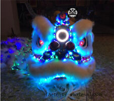 Wool Lion Dance Mascot Led Light Costume Southern Chinese Folk Art For Two Adult