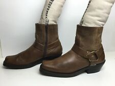 WOMENS UNBRANDED MOTORCYCLE HARNESS BROWN BOOTS SIZE 10 M