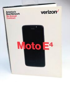 Verizon Motorola Moto E4 Black No Contract Smartphone Cell Phone XT1767 NEW