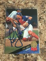 Tim Laker Signed 1993 Leaf Auto Montreal Expos