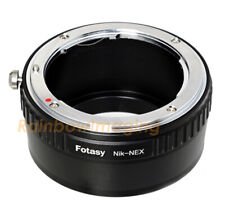 Nikon F Mount Lens to Sony E-Mount NEX Camera Adapter NEX-F3 a5000 a6300 a6500