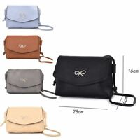 Womens Designer Style Cross Body Bag Ladies Handbag PU Leather Shoulder Bag