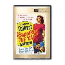 Remember the Day DVD New Claudette Colbert, John Payne, Shepperd Strudwick