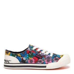 Rocket Dog Jazzin Women's Flower Frenzy Print Low-Top Lace-Up Sneaker Trainer