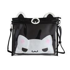 Cute Cat Print Transparent Clear Shoulder Bag Itabag Cosplay Comic Messenger Bag