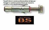 BodyStrongFitness Kit Fissaggio Standard Sbarra trazioni Muro-Made in Italy