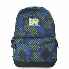 SUPERDRY Logo AOP Camo Montana Backpack Fluro Green Camo M91002JT-77E Schoolbag