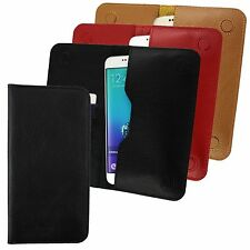 Genuine Leather Magnetic Slim Wallet Case Cover Fits the Motorola Smartphones