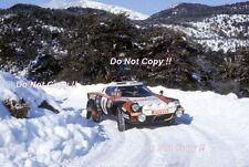 Sandro Munari Lancia Stratos Hf Monte Carlo Rally 1978 fotografía