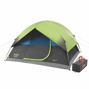 Coleman 2000032254 10 Foot x 10 Foot 6-Person Dark Room Sundome Tent, Green