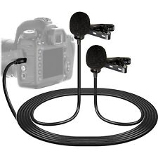 Vidpro XM-DLC Dual-Head Lavalier Microphone for DSLR Cameras & Camcorders