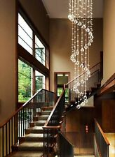 Indoor Rain Drop Crystal Mordern Chandelier Lighting Pendant Lamp Fixture Lights
