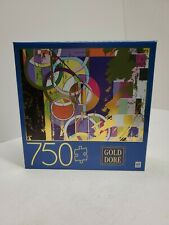 New Sealed 750 Piece Puzzle Art Gold Dore Abstract Circles 2019