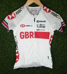 Womens Mesh  Kalas British Cycling GBR Team Race Fit Aero Jersey Size 1/XSmall